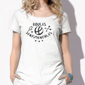 T-shirt femme boules sentimentales Full Boules evenement pétanque