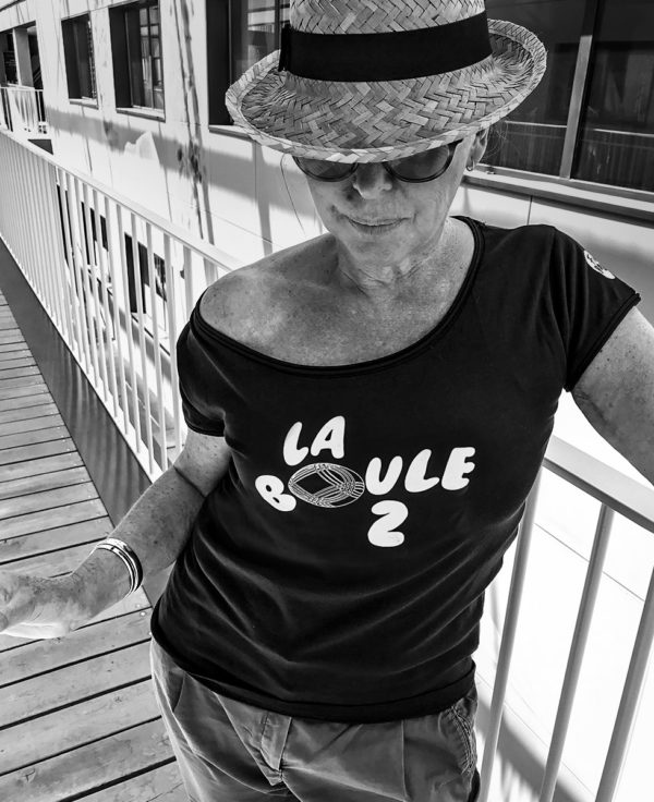 T-shirt femme la boule 2 Full Boules evenement pétanque